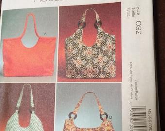 Tote, Bag, McCall's, Fashion Accessories, M5599, Uncut