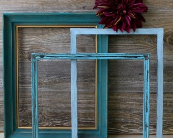 Colors of the Sea Open Frame Gallery Collection of 3 for Beach House and Nautical Inspired Rooms Affordable Home Decor