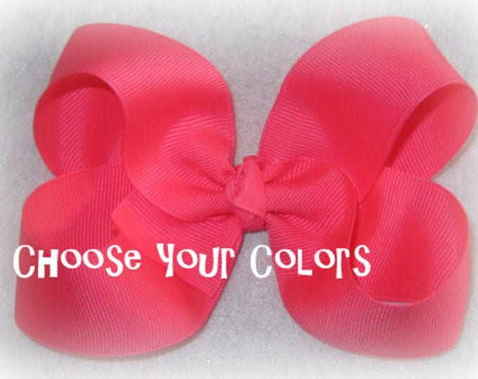 Classic Hair Bows, Boutique hairbows, Lot Set of 6 Bows, Bow Lot, Girls Bows, Bulk Bow sets, Big Hairbows, Large Bows, Wholesale bows, 45g