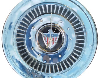 Ramberl American Hubcap Clock, late 50s & early 60s, with dots for numbers