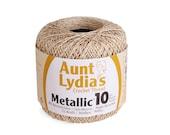Aunt Lydia's Crochet Thread Metallic Natural Gold Size 10