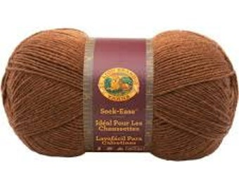 Lion Brand Sock-Ease Yarn in Root Beer Brown Color