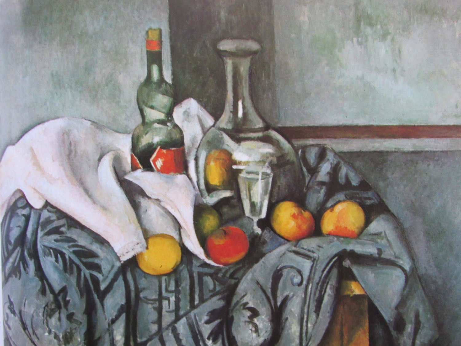 an analysis of cezannes still life with a peppermint bottle Analysis of still life with peppermint bottle by paul cezanne the commanalities of plan and form in thomas herzog's private house in regensburg roy lichtenstein.