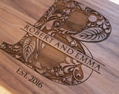 Personalized Cutting Board  Custom Engraved  Wedding Gift Housewarming Gift Anniversary Gift