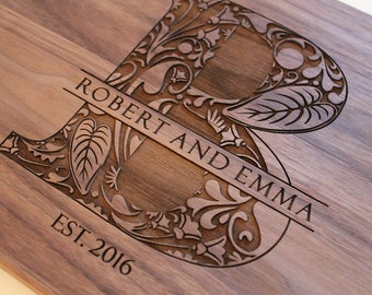 Personalized Cutting Board  Custom Engraved  Wedding Gift Housewarming Gift Anniversary Gift