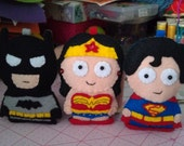 Justice League members - Superman, Batman, Wonder Woman and Martian Manhunter