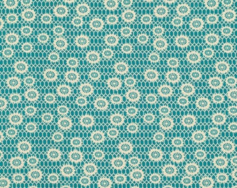 Free Spirit Fabric Denyse Schmidt Ansonia - Honeycomb Lace - Mossy PWDS062 BTY