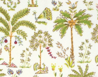 Free Spirit Dena Designs  PWDF209  HAUTE GIRLS-PALM Trees - White  1 Yard Cut