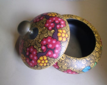 Hand painted container