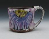 cone flower mug purple and yellow large mug