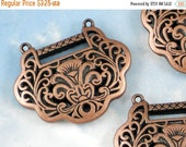 SALE Fabulous Antiqued Copper Lotus Flower 2 to 1 Necklace or Rosary Center Bead  (P943)