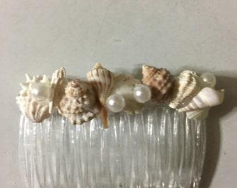 Wedding Seashell Hair Comb Crown Accessory Bride Bridesmaid Sea Shell Hairpiece