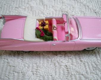 Vintage Collectible Hallmark Christmas Ornament 1959 Pink Cadillac De Ville