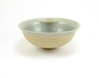 Sage Sand and Speckle Candle Holder