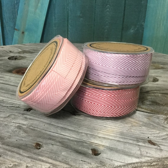 Chevron Twill Herringbone Ribbon - Available in Eight Colors - 3/4 Inch Width - Packaging and Gift Ribbon 30 Yards Full Spool Single Color