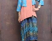 Gusti Skirt, Sizes XS - 2X, Bali Batik, Rayon