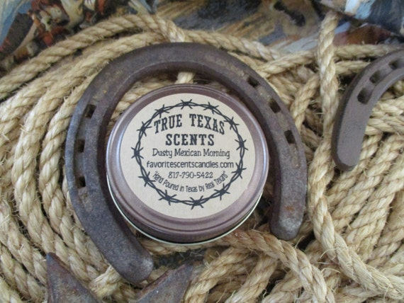 Dusty Mexican Morning - 4 oz Small Mason Jar Western Texas style candle