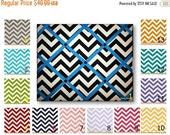 Valentines Day Sale Chevron Print French Memo Board  with Ribbon 16 x 20  -  Bulletin Board - Your choice of fabric and  ribbon colors - FRE