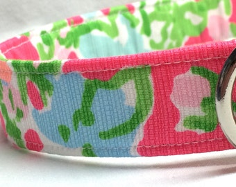 Lilly Pulitzer Fabric Dog Collar Girl Southern Charm