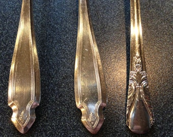 3 iced tea spoons heirloom plate pat mar 1920 wm rogers mfg co