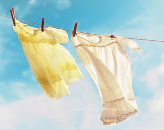 whimsical photography, baby girl dress,summer,aqua,blue,yellow,sky,girl,pastel,nursery