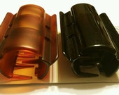 """Linziclip Maxi Hair Claw Clips Clamps 1 Black and 1 Tortoise Shell Color 3-1/8""""L"""