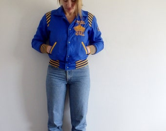 Varsity Jacket Vintage Bomber Striped Cuff