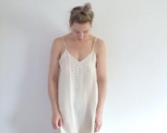 Dress Vintage Silk Embroidered