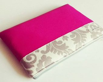 "MacBook 12"" Case, MacBook Case, MacBook Laptop Sleeve, Laptop Bag, Laptop Case - Floral Hot Pink Case"