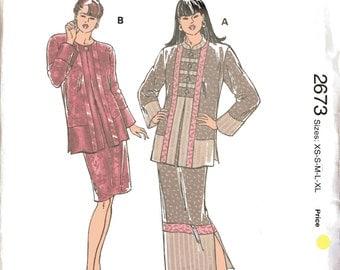Kwik Sew 2673 Sewing Pattern, XS-S-M-L-XL, Ladies Jackets and Skirts