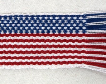 Inkle Woven Bookmarks American Flag cotton