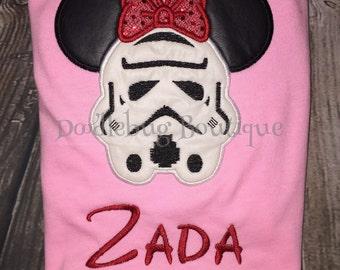 Storm Trooper Minnie Mouse shirt
