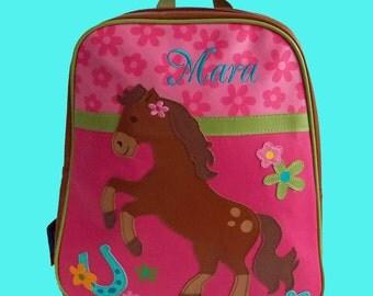 Personalized Child's Stephen Joseph GoGo Backpack GIRL HORSE Themed Bag