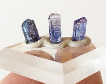 3 Terminated Tanzanite Crystals, 3 Carats, Purple Tanzanite Parcel, Gemstones Minerals, Wire Wrapping Jewelry Supplies
