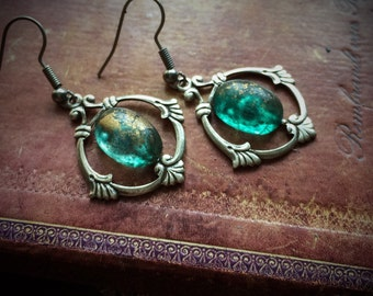 Dragons' Eye Silver Circle Earrings