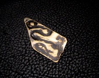 Rustic color Black patina jewelry charm penadant