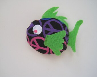 Fish Cat Toy Filled  with Organic Catnip