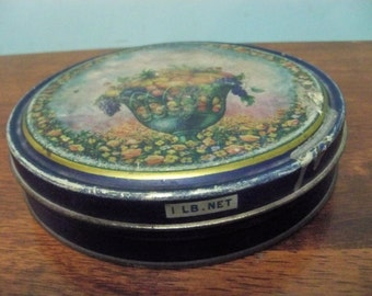 antique  fruit tin