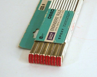 Vintage Lufkin Engineers Rule Red End New Old Stock 6 Ft 066D