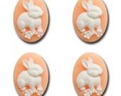 Resin Bunnies - Peach