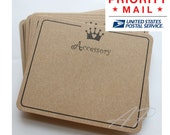 Free Shipping via Priority Mail 600pc Imprint Hair Clip Display Card in Brown Kraft Paper card for DIY Accessory