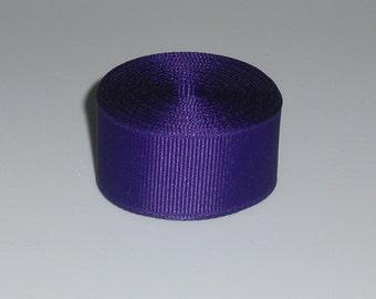 Purple 7/8 inch Solid Grosgrain Ribbon 10 yards