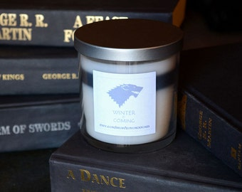 House Stark Game of Thrones Candle