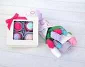Girl Baby Shower Gift, Gender Reveal Gift, New Baby Gift, Baby Girl Clothes, Baby Flower Bouquet, Baby Gift Ideas, New Baby Flowers