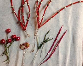 Vintage Mercury Glass  Floral Picks Spires (0-179)