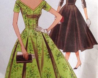 Vintage Vogue Original 1957 Design V2903 Dress