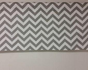 Chevron valance, Zig zag, Grey and white zigzag,  chevron window treatment