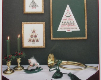 O, Christmas Tree/Counted Cross Stitch Patterns by JBW Designs/1992/Sampler/Holiday/Angel Tree