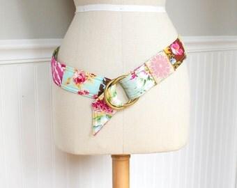 Nostalgic Flowers Patchwork Fabrics Belt