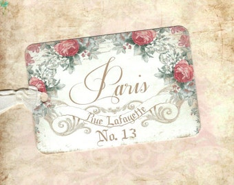 French, ParisTags, French Style Tags, Gift Tags, French Tags